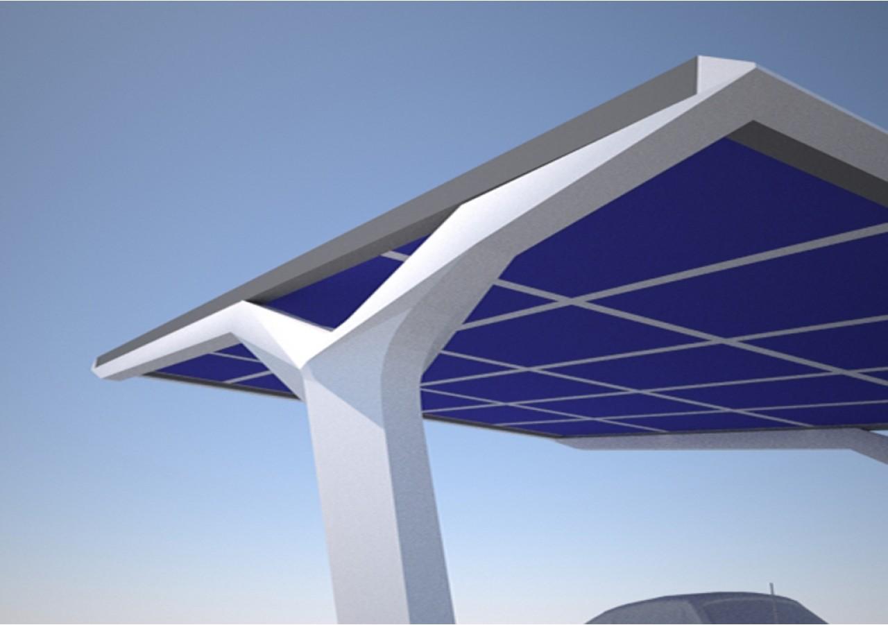 Solar Carport for PCT Dubai   grobe-architekten.de